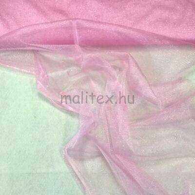 Mesh Tüll – Rózsaszín színben, csillogó