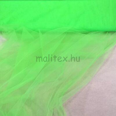 Lágy tüll – Neon zöld színben, extra széles
