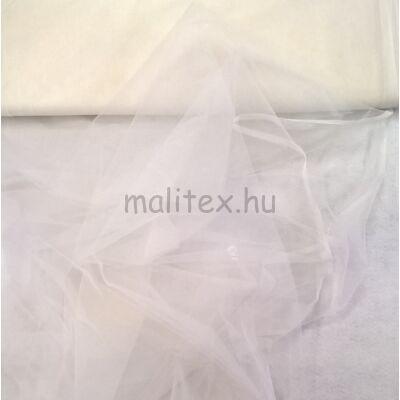 Lágy tüll – Fehér színben, extra széles