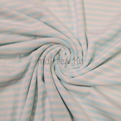 Bébiplüss – Türkizkék-fehér csíkos mintával