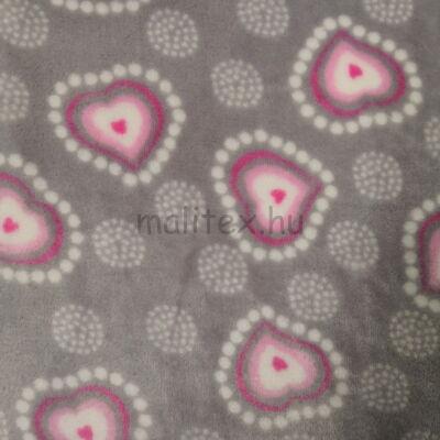 Wellsoft (Léda) – Szürke alapon rózsaszín szívecskés mintával