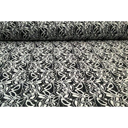 ba99b195d2 Elasztikus csipke – Fekete-fehér színben