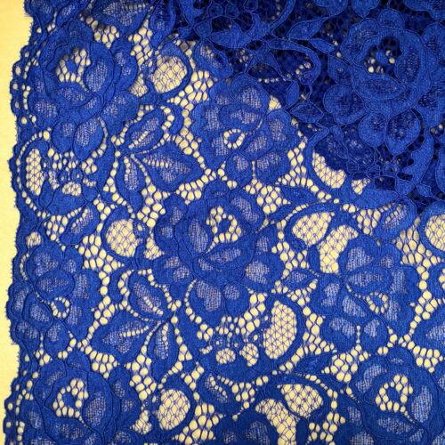 fb19585a97 Elasztikus csipke – Királykék színben, zsinóros dísszel, bordűrrel
