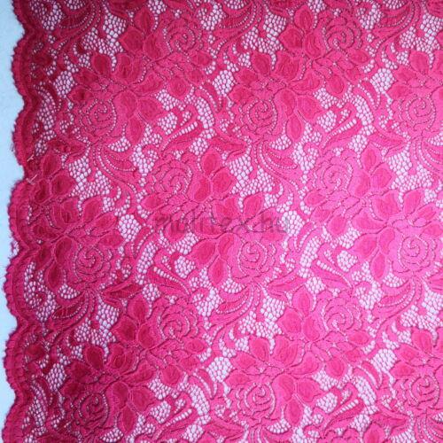Elasztikus csipke – Rózsaszín színben, bordűrrel