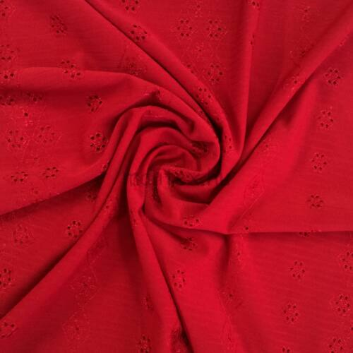 49a27b6b3b Poliészter jersey – Madeira mintával, piros színben