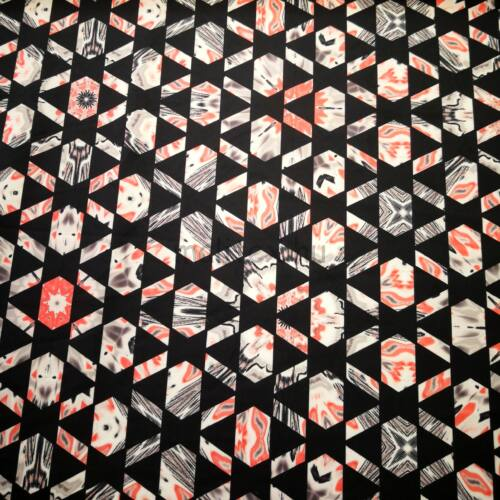 Jég jersey – Fekete geometriai mintával