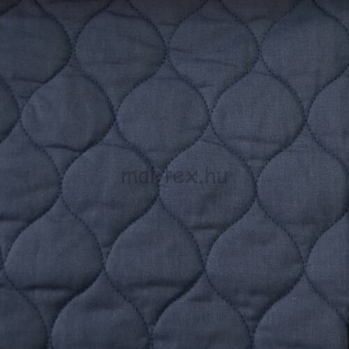 Kétoldalú steppelt kabát bélés – Szilvakék színben, pamut anyagból