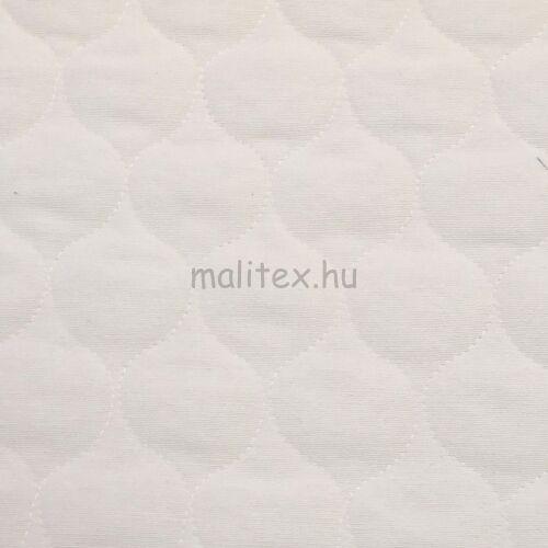 Kétoldalú steppelt pamut anyag – Törtfehér színben