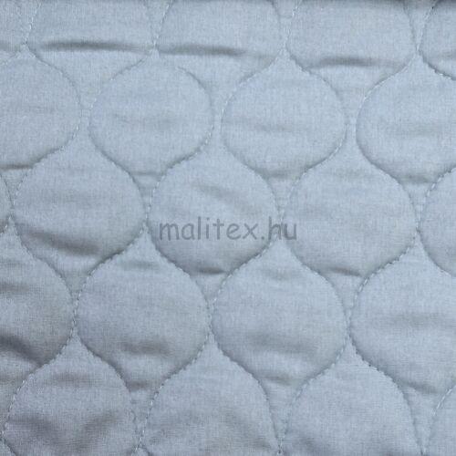 Kétoldalú steppelt pamut anyag – Halványkék színben