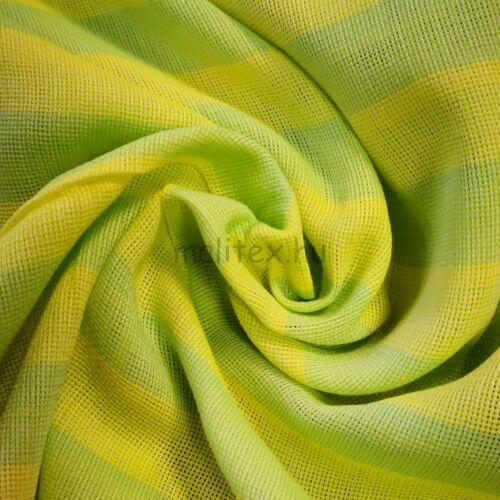 Géz anyag – Zöld és citromsárga csíkos mintával