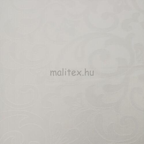 Teflonos damaszt – Indázó mintával, fehér színben