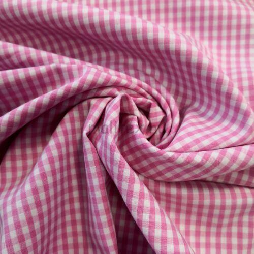 Puplin – Rózsaszín kis kockás mintával