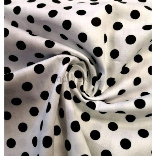 Puplin – Fehér alapon fekete pöttyös