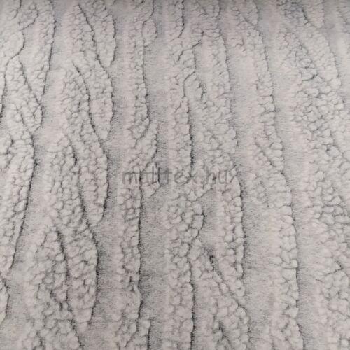 Műszőrme – Fehér fonott mintával, gyapjú