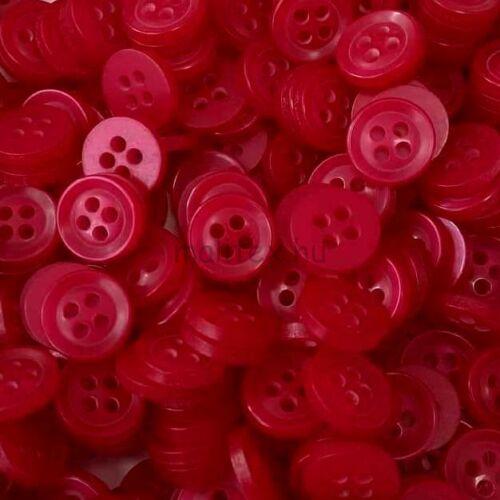 Inggomb – Piros színben, négylyukú, 12mm