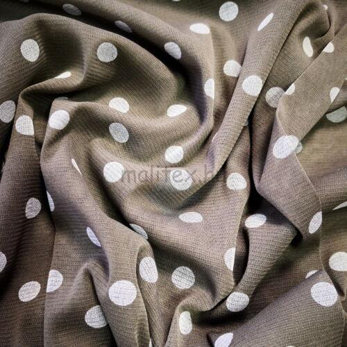 Lágy tüll – Keki alapon fehér pöttyös mintával