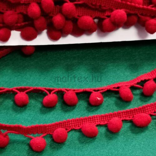 Paszomány - Piros színben, lógó bogyókkal díszített