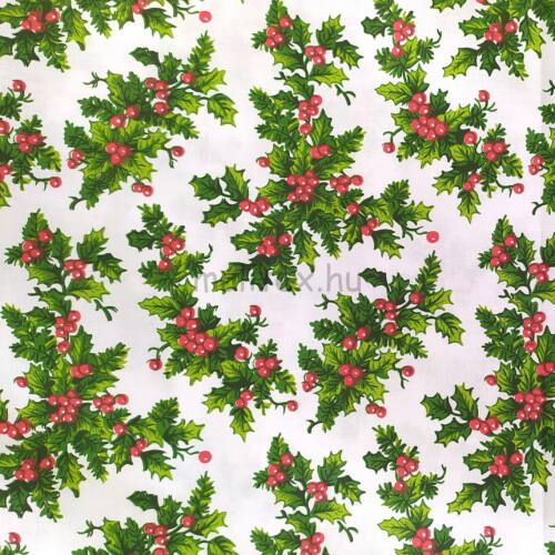 Pamutvászon – Karácsonyi fagyöngy mintával