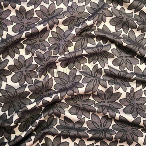 Jacquard – Sötétszürke virág mintával