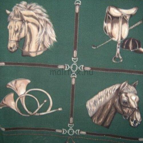 Polár - Zöld alapon lovas mintával