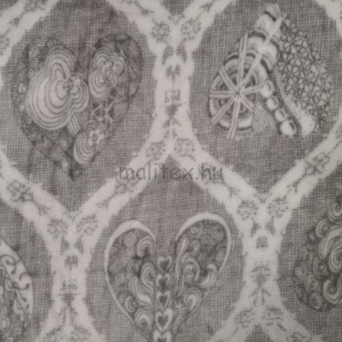 Wellsoft (Léda) – Nagyméretű szürke szívecskés mintával