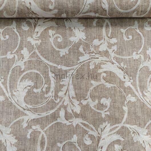 Bútorvászon – Fehér indázó mintával, bézs árnyalatban, LONETA