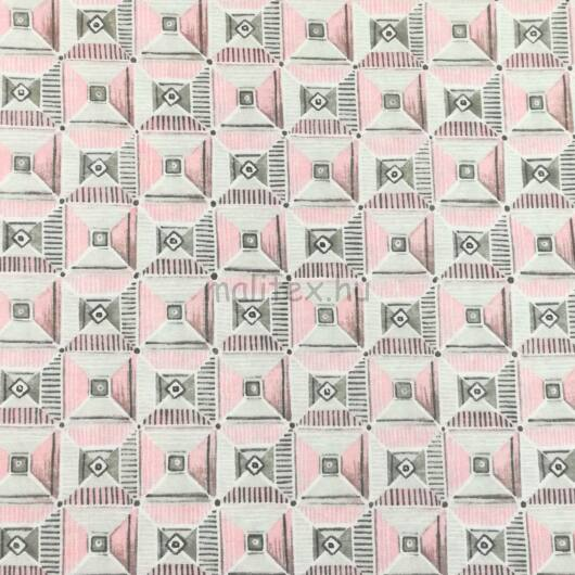 Bútorvászon – Szürke és rózsaszín négyzetes mintával, LONETA