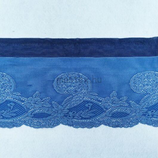 Csipke szalag – Elasztikus csipke,farmer kék színben, indás mintával, 16cm