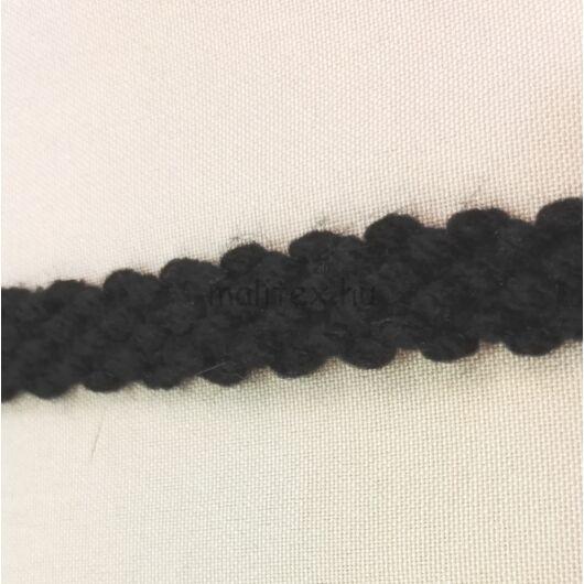 Dísz szalag – Fonott mintával, fekete színben