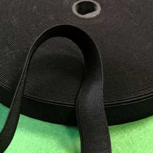 Gumiszalag – Nadrág gumipertli fekete színben, 20mm