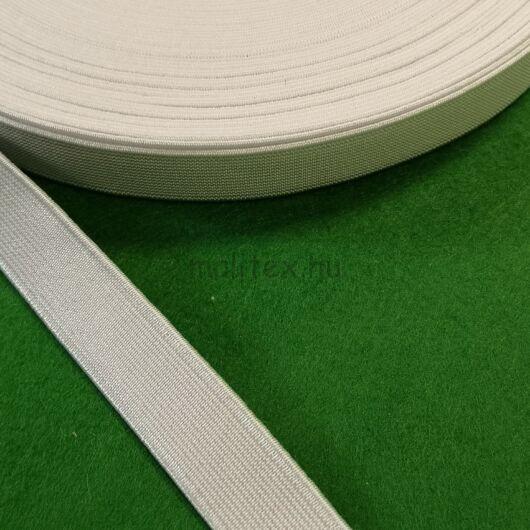 Gumiszalag,erős – Nadrág gumipertli fehér színben, 20mm