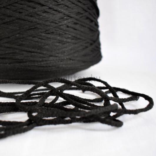 Gumizsinór (gumirugany) – Szájmaszkhoz, fekete színben, 2mm