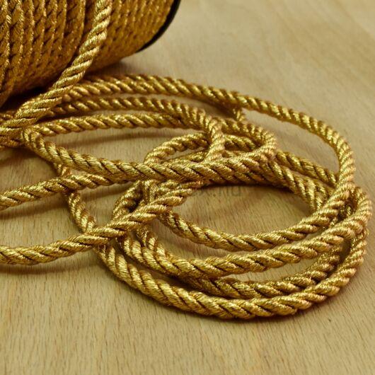Sodrott zsinór – Lurexes arany színben, 5mm