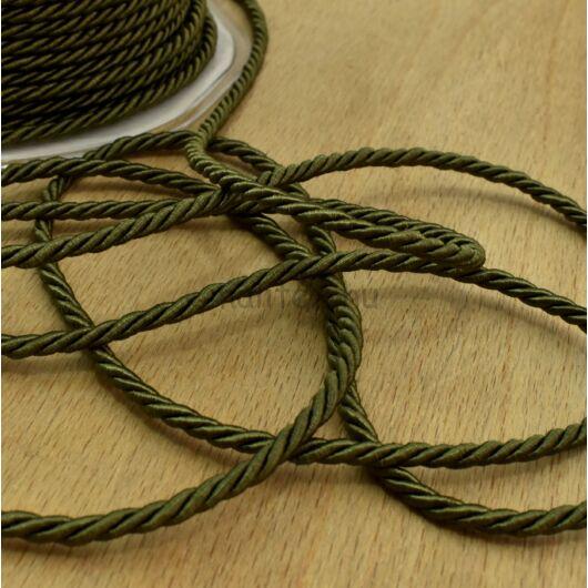 Sodrott zsinór – Zöld színben, 3mm