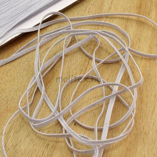 Gumiszalag – Bordázott gumi fehér színben, 3mm