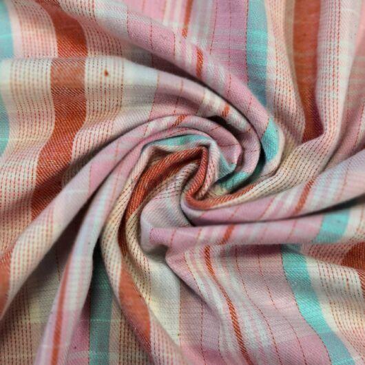 Flanel – Rózsaszín alapon kockás mintával