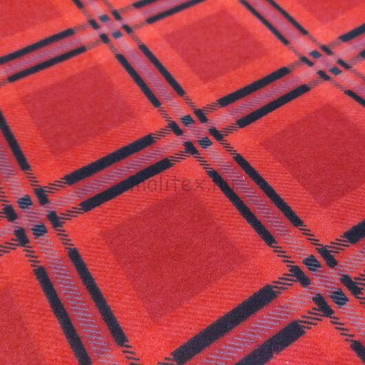 Flanel – Kockás mintával, piros színben, fekete csíkokkal