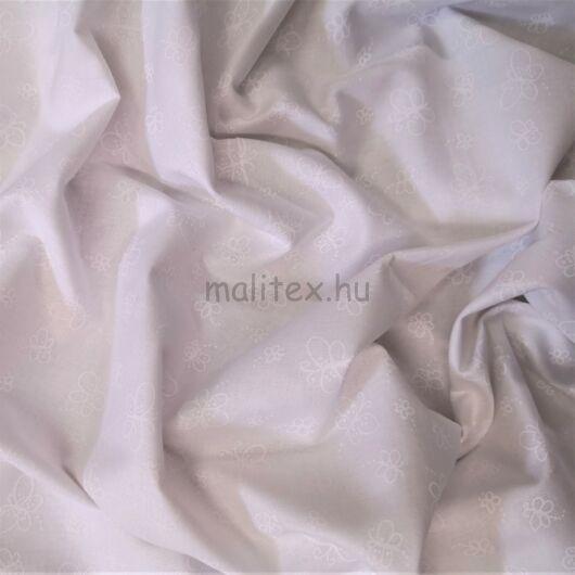 Puplin – Fehér alapon pillangó mintával