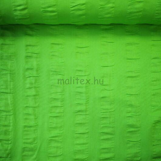 Puplin – Zöld színben, csíkban, anyagában hullámos