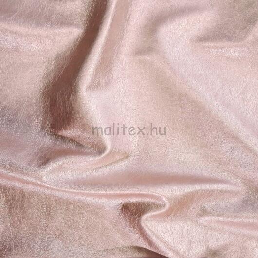 Műbőr – Textilbőr púder rózsaszín színben, metál fényű