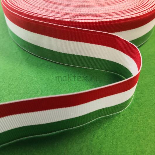 Nemzeti szalag – Magyar nemzeti színű szövött szalag, 30 mm
