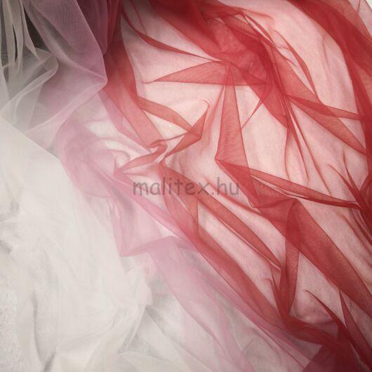 Ombre tüll – Lágy tüll, fehér piros átmenetes színben