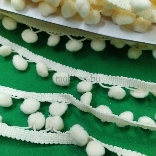 Paszomány - Tört fehér színben, lógó bogyókkal díszített