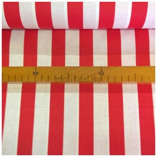 Pamutvászon – Piros-fehér széles csíkokkal