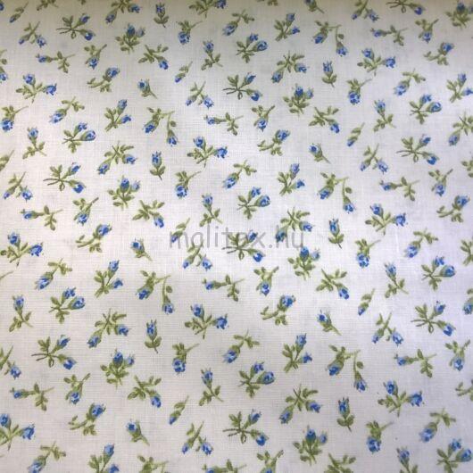 Pamutvászon – Kék apró virágokkal