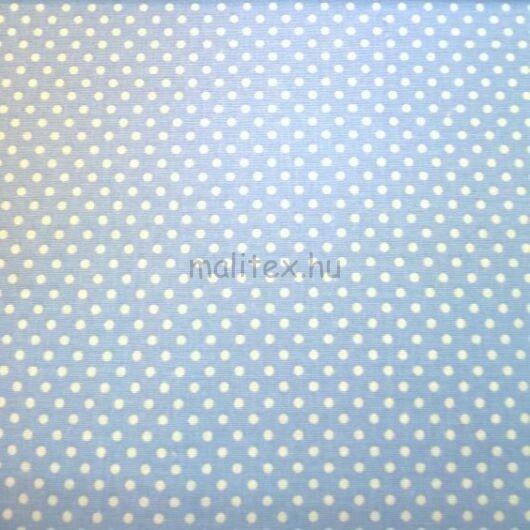 Pamutvászon – Halványkék, fehér 2mm pöttyös mintával