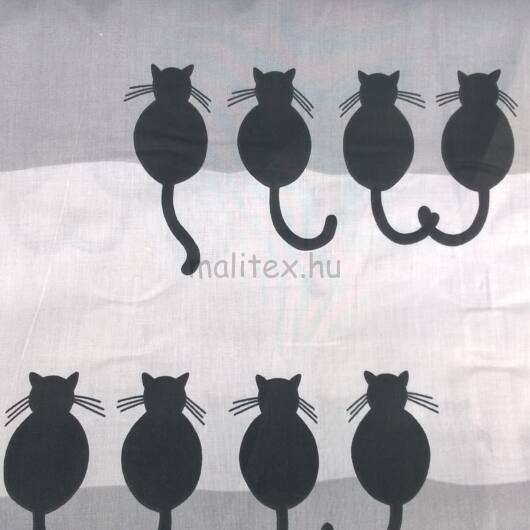 Pamutvászon – Fekete macskás mintával