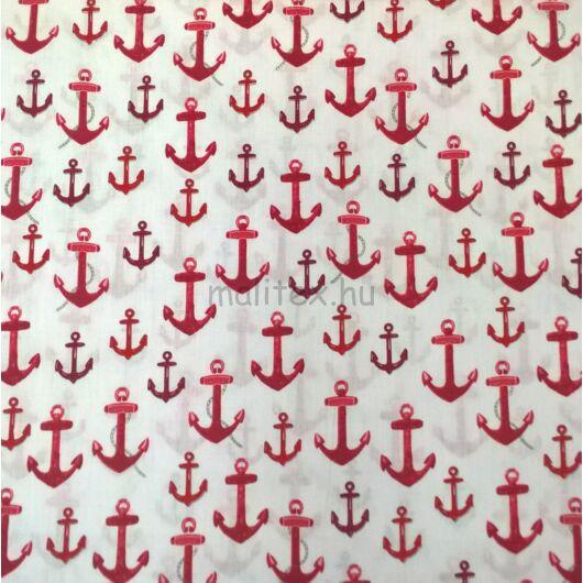 Pamutvászon – Nagyméretű vasmacska mintával, piros színben