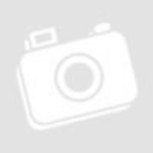 Pamutvászon – Színes szívecske mintával, piros alapon