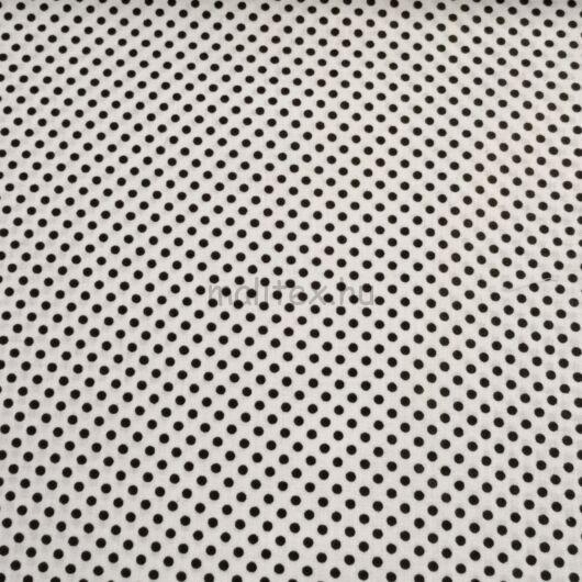 Pamutvászon – Fehér, fekete 2mm pöttyös mintával